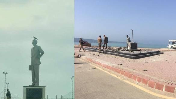 Jinnah s statue in Gwadar Pakistan blow up with explosive bsm