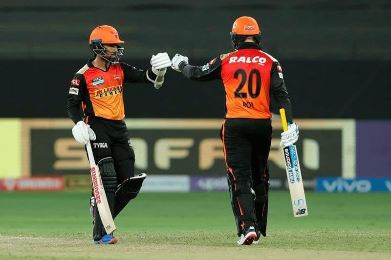 Jason Roy and Kane williamson score half Century, SRH beat RR by 7 wickets in IPL 2021 at UAE spb