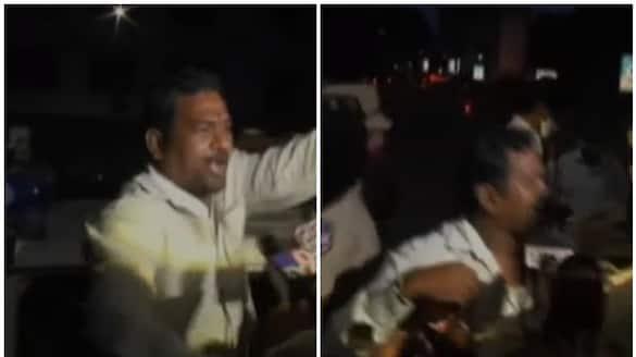 janasena leader arrested after trying to stop posani murali krisha press   meet