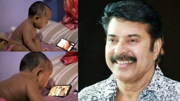 actor mammootty cute fan baby girl video goes viral