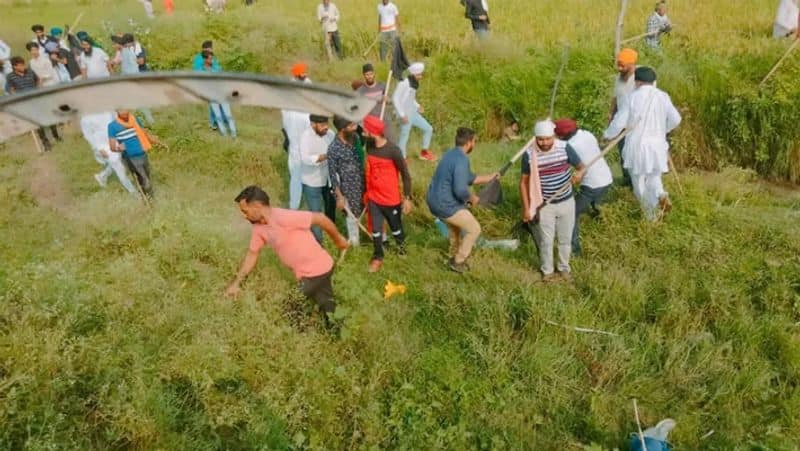 Violence in farmers protest including 2 farmers 8 mans dead