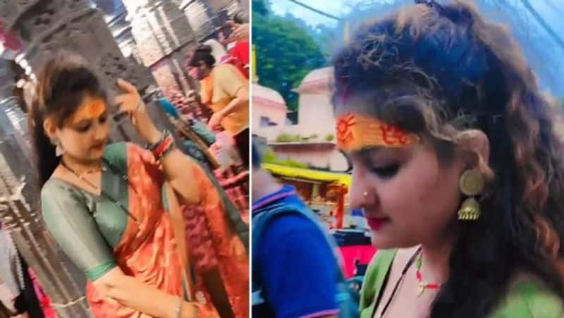 Madhya prades police files case against girl who dance inside the temple