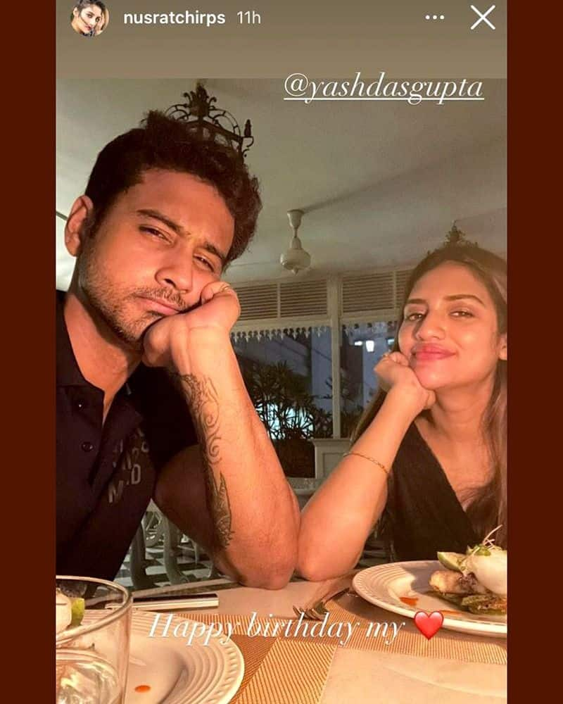 Controversy arises about Nusrat Jahan and Yash Gupta as Nusrat wishes yash by saying happy birthday love