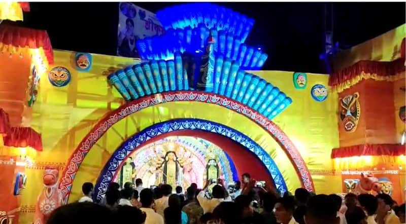 Ministers of state inaugurated Durga Puja without masks BJP slams for this bmm