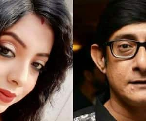 Sreemoyee Chattoraj and Kanchan Mallick clicked together on Nabami after controversy
