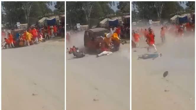 Car ploughs into procession in Chhattisgarh horrific moment captured on video