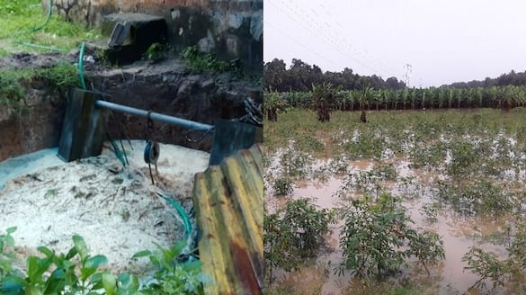 heavy rains inundated low lying  Riverside areas and agricultural lands of Thiruvananthapuram
