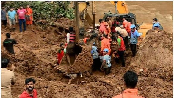 Idukki  Kokkayar landslide one dead body found