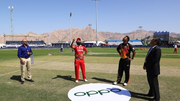 T20 World Cup 2021 Oman captain Zeeshan Maqsood four wicket restrict Papua New Guinea 129 runs