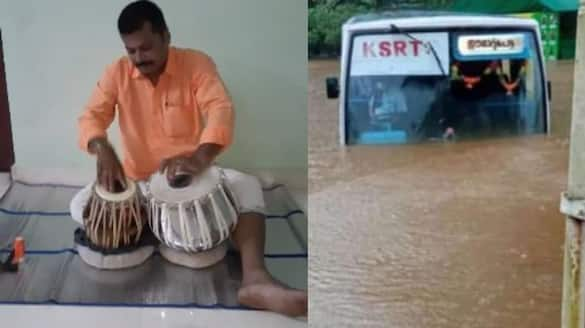 KSRTC driver whom got suspended for dring through water logged road reactions in social media