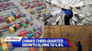China economy weakens as GDP in third quarter slows