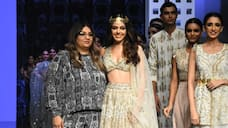 Alaya F turnes showstopper for Payal Singhal at Bombay Times Fashion Week RCB
