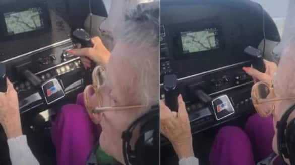 84 year old pilot with Parkinsons flies plane