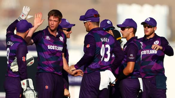 oman set easy target to scotland in qualifier match in t20 world cup
