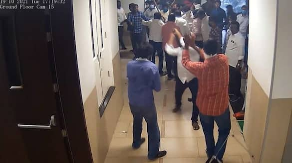 ysrcp activists attack on tdp office employees in mangalagiri