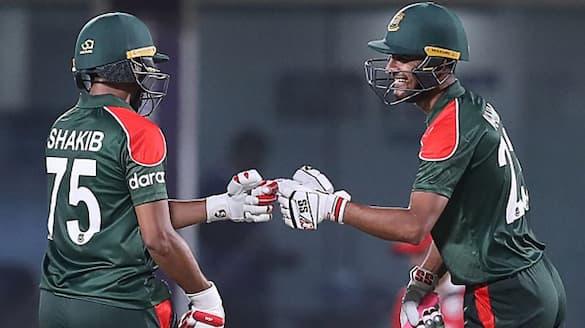 T20 World cup2021: Mustafizur rahman 4 wickets show leads to Bangladesh victory against oman