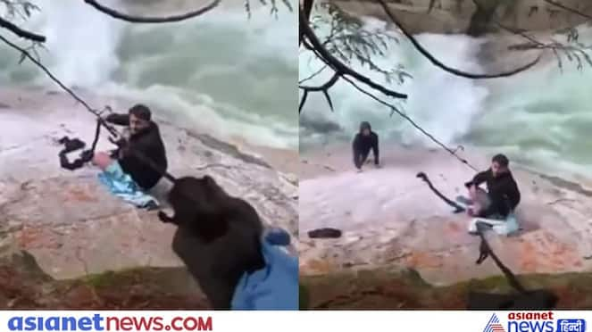 Viral Video of Sikhs rescuing drowning passengers in waterfall