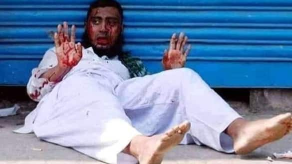 Fake News Picture of a young man death during violence in Bangladesh