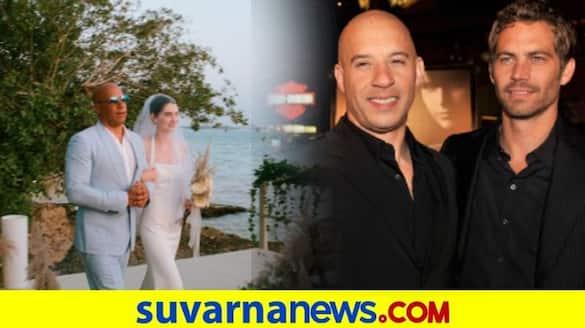 Paul Walkers daughter Meadow marries Louis Thornton AllanVin Diesel walks her down the aisle dpl