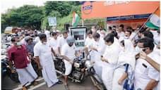 petrol price congress conduct taxless petrol sale strike at malapuram