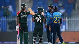 lahiru kumara and liton das clash on field during sri lanka vs bangladesh match in t20 world cup