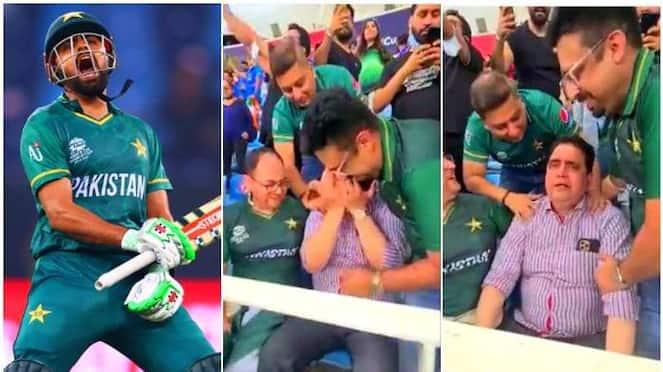 pakistan beat india babar azam father cries at gallery