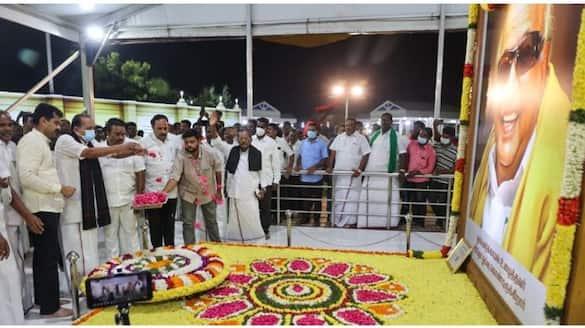 Tribute at Karunanidhi Memorial .. Meeting with MK Stalin at Anna Arivalayam .. Vaiko's son in top gear.!
