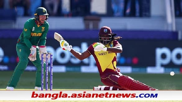 T20 World Cup 2021, SA vs WI - South Africa restrict at 143 for 8 wickets even after Evin Lewis' half century ALB