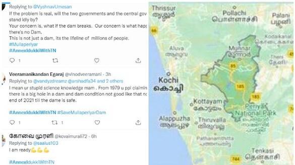 tamil social media start campaign against kerala social media on mullaperiyar with annex idukki hashtag
