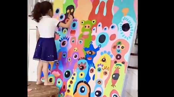 Netizens were surprised to see 5 years old drawing talent, watch the viral video