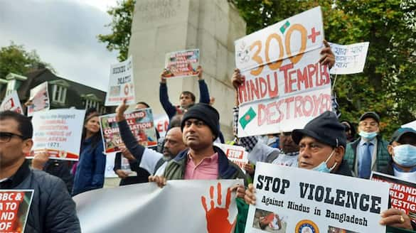 RSS and VHP came in front to protest against the attack on Hindus in Bangladesh