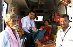 Staff of 108 ambulance help pregnant lady to deliver a baby inside the vehicle at Bellary.