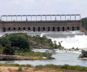 Out flow in KRS reduced as rain gets break