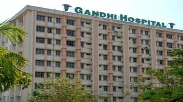 Fire accident in Gandhi hospital in Hyderabad