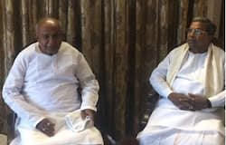 Devegowda and Siddaramaiah at former's residence