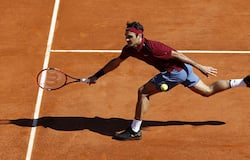 Roger Federer at the Monte Carlo Masters tournament.