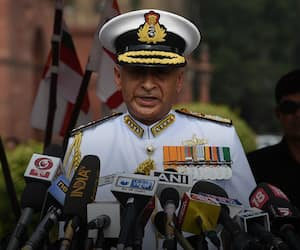 Navy chief punctures anti-Modi narrative of supporting Reliance in defence projects